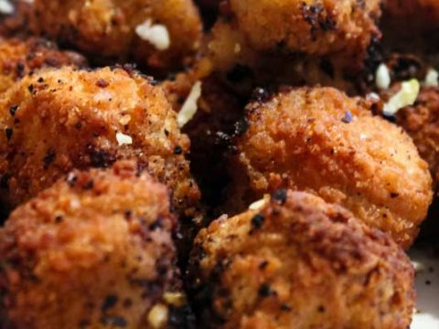 Gehaktballen met mosterd uit de oven